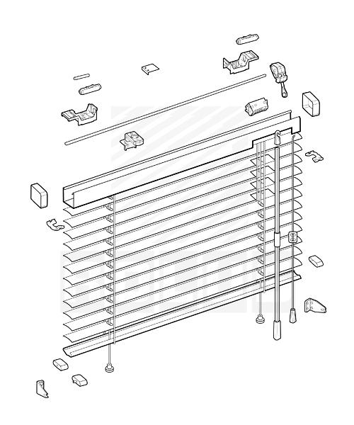 алюминиевые жалюзи 25мм